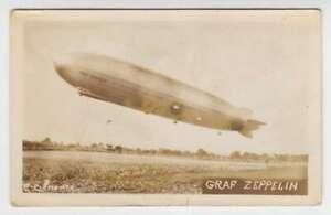 D0911 : Original Graf Zeppelin Photo Carte Postale