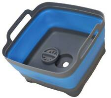 Space Saving Collapsible Blue Sink 0477 Wash Tub Camping Caravan Boat RV Camper
