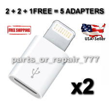 8 Pin Lightning Micro USB Cable Adapter Sync Charge Connector iPhone 7 6 5 plus