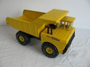 Vintage 1974-75 Tonka Toys Pressed Steel Yellow Mighty Dump Truck #3900 EX