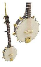 "Realistic Banjo Christmas Ornament - 5"" Tall by Broadway Gifts - NIB"