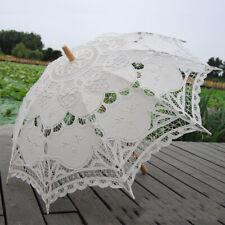 Lace Parasol Umbrella Wedding Umbrella Elegant Lace Umbrella Cotton Embroidery