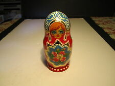 Ornate Russian Girl 5 Decorative Stacking Nester Dolls Set