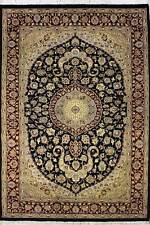 Rugstc 5x8 Senneh Pak Persian Blue Area Rug, Hand-Knotted,Floral with Wool Pile