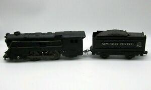 Vintage MARX New York Central Lines Electric Locomotive & Tender Metal Train Toy