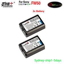 2x1950mAh Battery for Sony NP-FW50 NEX-3C NEX-5C NEX-6 NEX-7 A6500 A6300 AU-ship