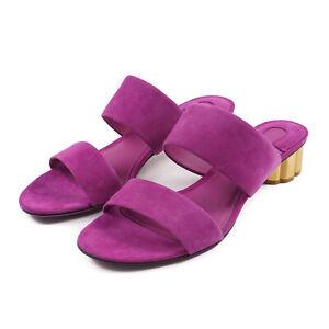 Salvatore Ferragamo 'Belluno' Violet Suede Slide Sandal 8.5 B NIB $675 Shoes