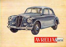 Lancia Aurelia 2nd Series English text brochure by Pino Barale 1954