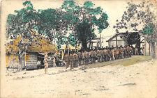 Philippines Prisoners Entering Stockade Real Photo 1200 in 1912 Rppc Postcard