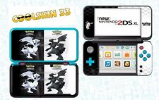 POKEMON N&B - vinyl Skin Aufkleber für Nintendo NEW 2DS XL - réf 190