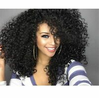 Afro Long Kinky Curly Natural Hair Wavy Wigs Synthetic Full Wig Party Cosplay
