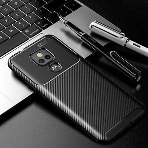 For Motorola Moto G Play 2021 Case Shockproof Carbon Fiber Soft Cover