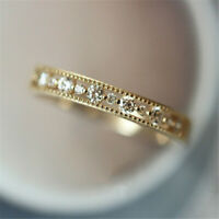 Fashion White Sapphire Zircon Thin Rings Gold Silver Promise CZ Wedding Jewelry