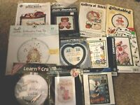 Lot of 11 Embroidery & Cross stitch Kits - Dimensions Bucilla etc new In Package