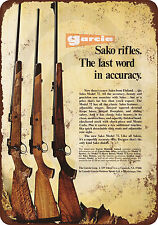 1973 Sako Model 72 Rifles Vintage Look Reproduction Metal Sign 8 x 12