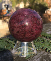 108.6g  NATURAL RHODONITE CRYSTAL POLISHED HEALING SPHERE  Reiki Charged  SWEDEN