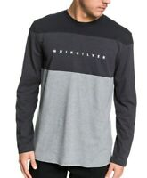 QUIKSILVER MENS T SHIRT.NEW QUIVER WATER GREY LONG SLEEVED COTTON TOP TEE 9W 13