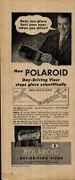 1946 Polaroid Day Driving Visor Sun Glare Vintage Print Ad 3338