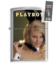 Zippo 4757 Playboy Cover-March 1967 Brushed Chrome Lighter + FLINT PACK