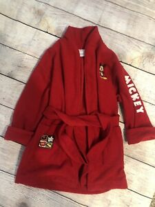 Disney Store Childs Bathrobe ~ Mickey Mouse~ Size XS (4/5) ~Fleece