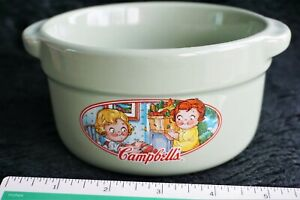 Vintage 2006 Campbells Kids Collectible Soup Bowl by Houston Harvest Jade Green