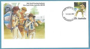 Australian 1987 Scouting Jamboree Cover Stamp D287
