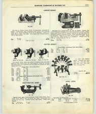 1917 Paper Ad Victor Jersey Hardware Store Bench Vise Display Rack Yankee