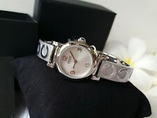 NWT! Coach 14501687 Ladies Madison Silver SS Bracelet Bangle Watch C Logo $250