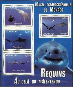 Monaco 2013 Marine Fauna, Fishes, Sharks MNH**