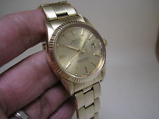 Rolex Oyster Perpetual Date 34mm 14k solid Yellow Gold 15037 Circa 1987