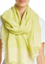 Eileen Fisher Linen Cashmere Weave Color Block Gauze Vebna Scarf Made in India