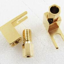 10pcs Spade Banana plug Copper Mcintosh #L Amp Eico tube Adapter Gold plated