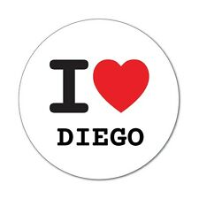 I love DIEGO - Sticker Decal - 6cm