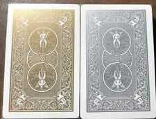 2 OHIO BICYCLE #86 Bridge Playing Card Decks Gold & Silver with Gold Gilt Edges!