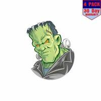 Frankenstein Monster 4 pack 4x4 Inch Sticker Decal