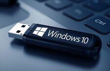 PENDRIVE-Chiavetta-Usb-WINDOWS  10 PRO+Cod Licenza originale+Antivirus