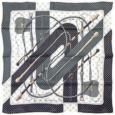 foulard scarf carré Hermès soie vintage 70 neuf new