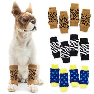 2 Pair Non-Slip Socks Leggings Knee Pads Pet Puppy Shoes for Medium Large Dogs