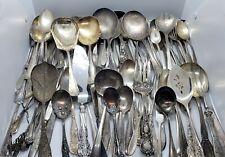 Lot 100 Vintage Antique Silver plate Flatware Berry Salad Salt Sugar Hors devour