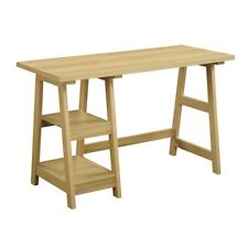 Convenience Concepts Designs2Go Trestle Desk, Light Oak - 090107LO
