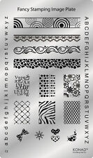 Original KONAD Schablone Plate Stamping Platte Fancy Stamp  #3
