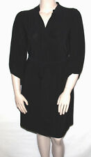 Ny Collection Size XL Mandarin Collar 3/4 Sleeve Dress with Tie BLACK