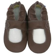 carozoo Mary Jane dark brown 0-6m soft leather baby shoes