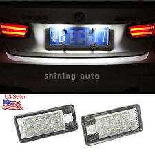 2x CANBUS 18-SMD White LED License Plate Light Blubs for AUDI Q7 A3 A4 A6 A8 RS4