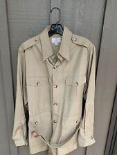 Abercrombie & Fitch Vtg Men's Khaki LS Belted Cotton Safari Jacket Shirt 40