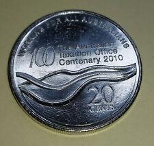 2010 AUSTRALIA 20 CENTS - TAXATION OFFICE CENTENARY