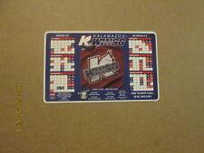 Uhl Kalamazoo Wings Vintage 2000-01 Magnet Schedule