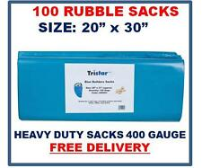 "100 Rubble Sacks, 400g, 20 x 30"", Heavy Duty Sacks/Bags, Strong Sacks 400g BLUE"