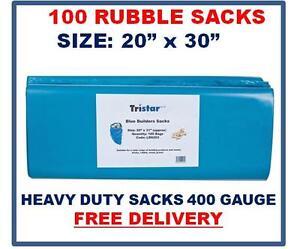 "100 Rubble Sacks, 400g, 20 x 30"", Heavy Duty Sacks/Bags, Strong Sacks 400g BLUE"