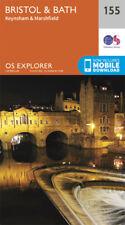 Bristol and Bath 155 Explorer Map Ordnance Survey With Digital Download